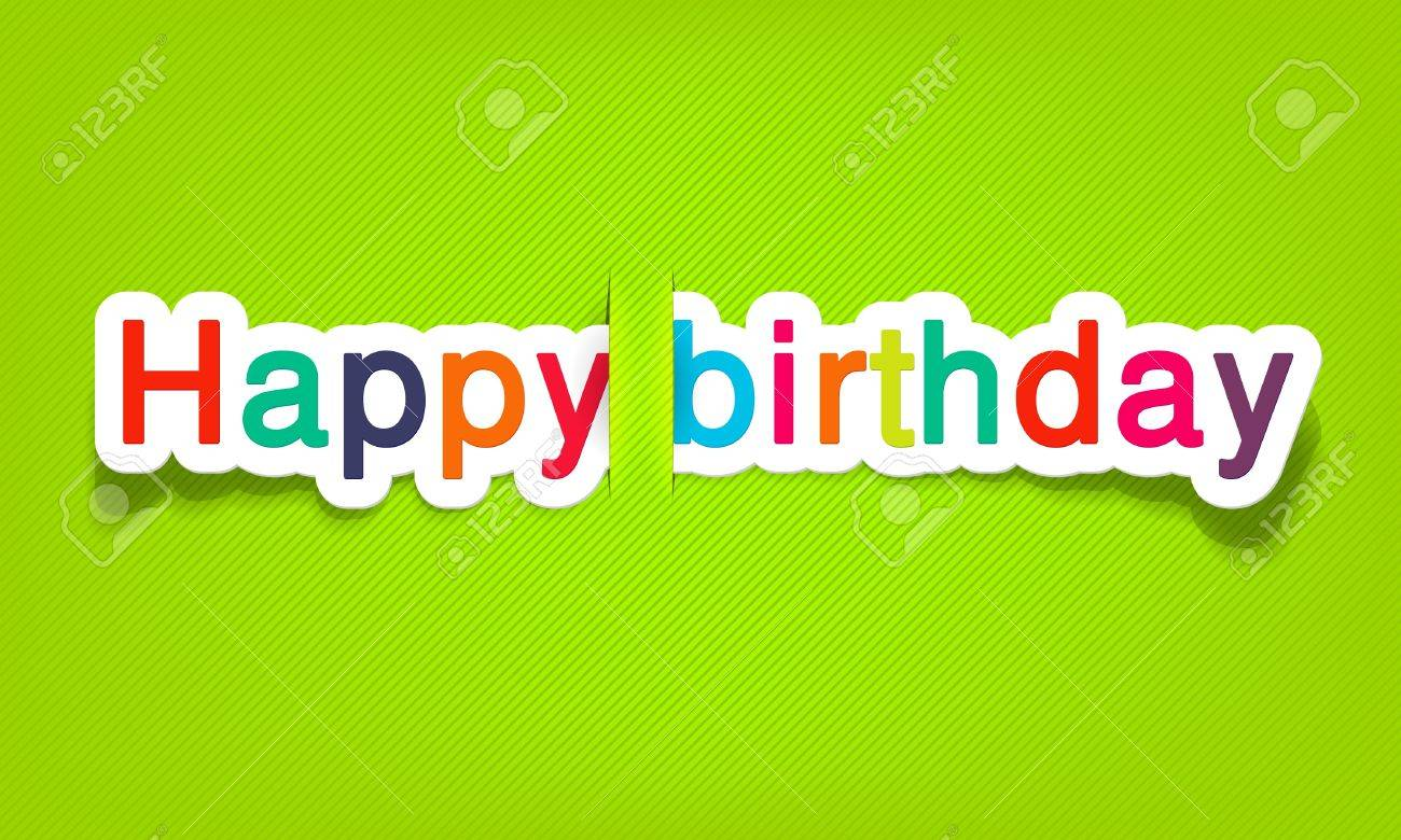 happy birthday, realistic cut, takes the background color - 9893196