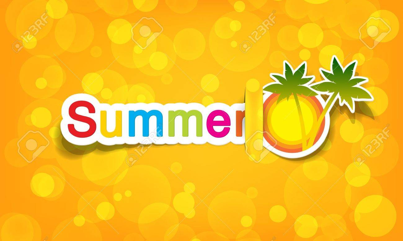 vector summer; realistic cut, takes the background color - 9946138
