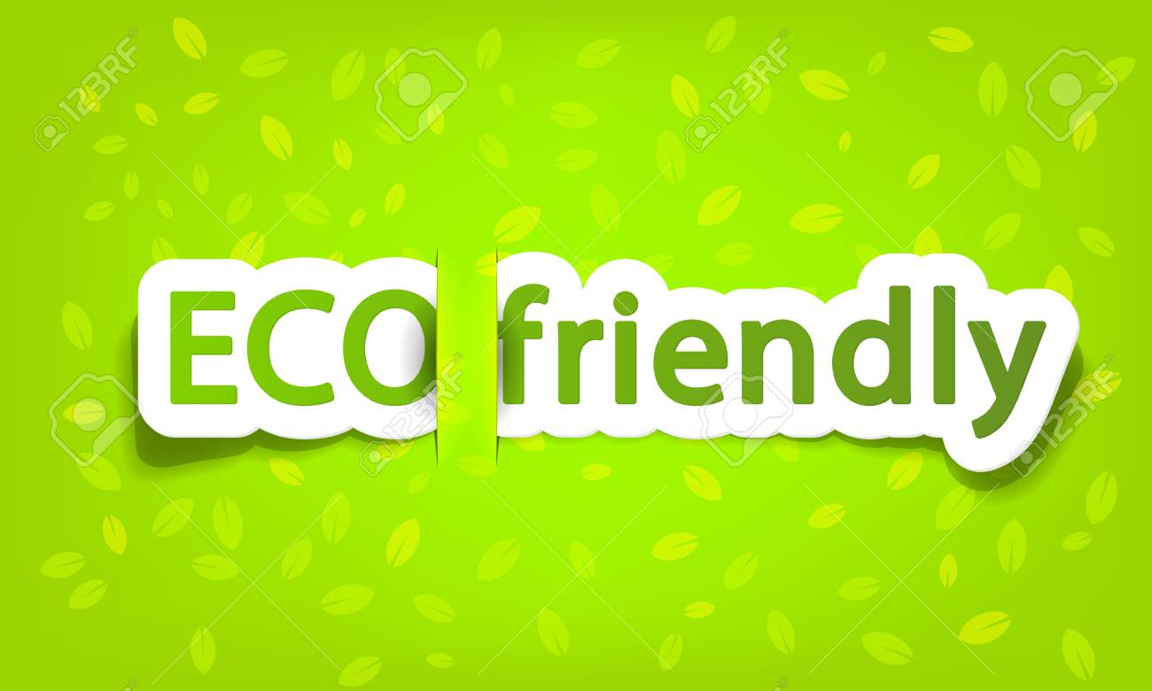 eco friendly, realistic cut, takes the background color Stock Vector - 10030405
