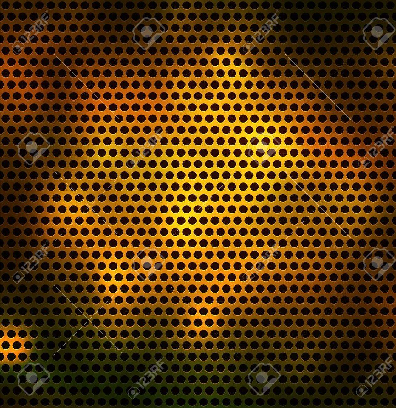 Metal grid with round holes. Seamless vector background - 11620625