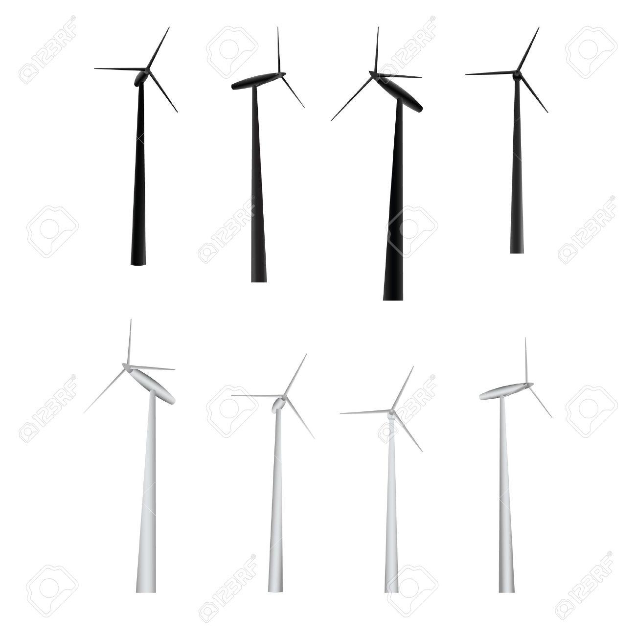 vector set of windmills - 11620582