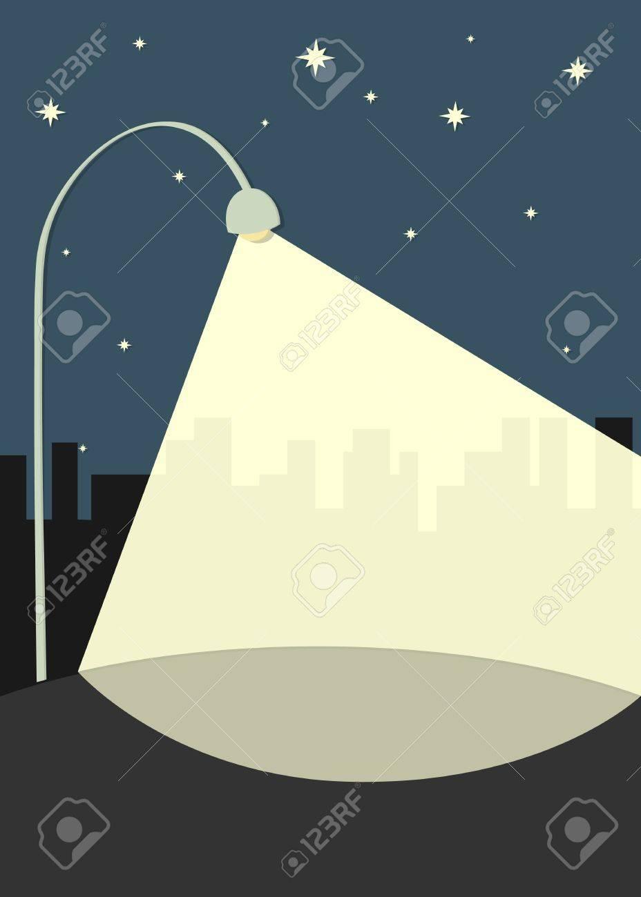 street lamp illuminates the sidewalk - 12947534
