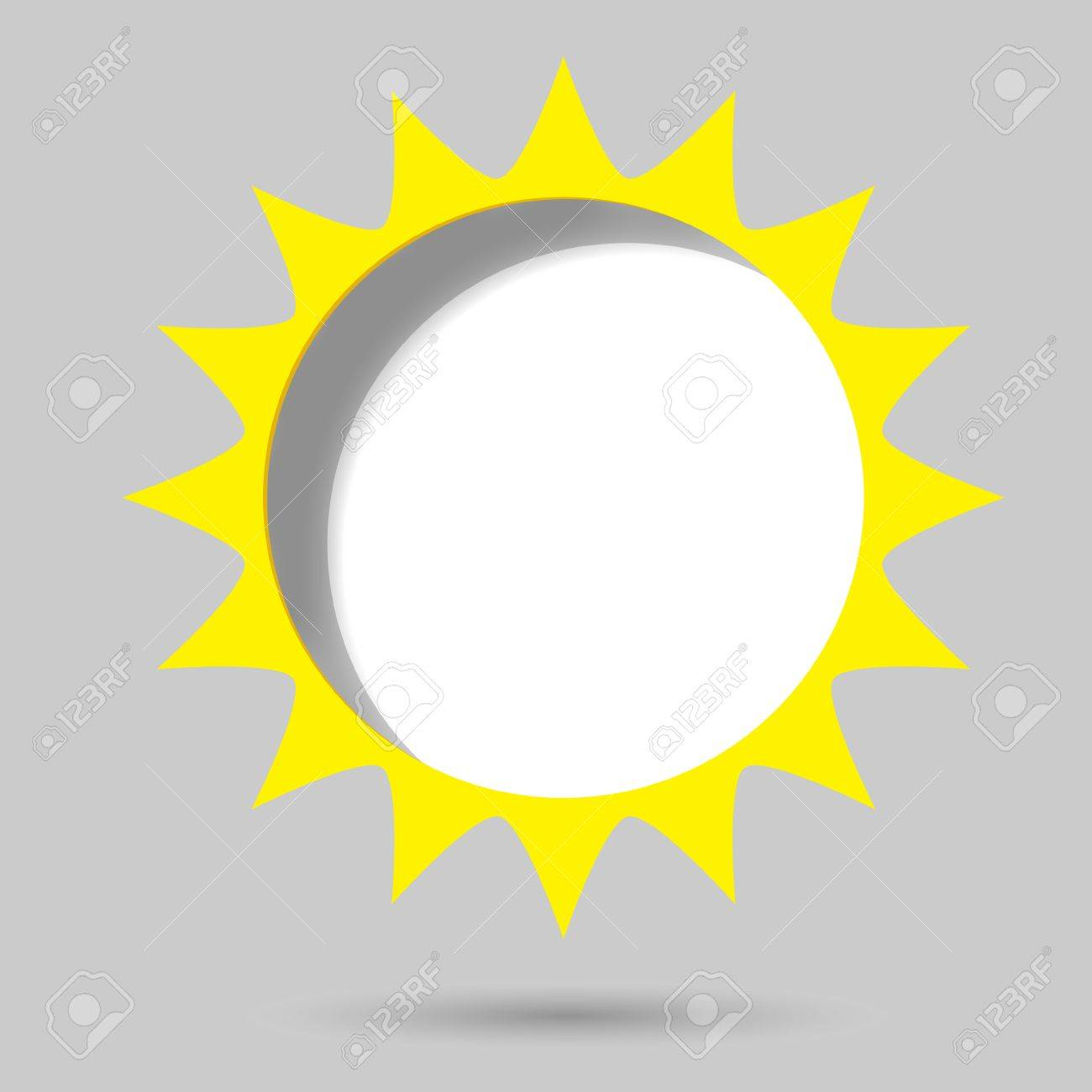 Creative Poster Template Yellow Sun Royalty Free Cliparts, Vectors ...