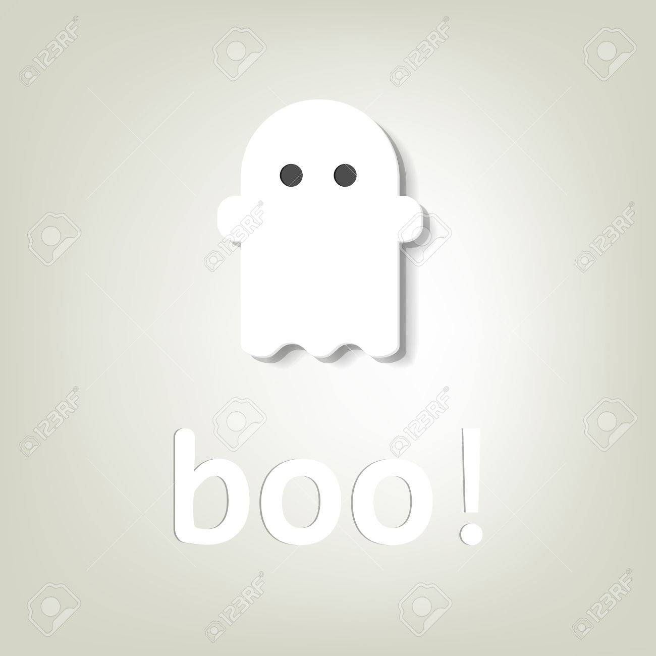 creative poster for Halloween little ghost - 15144384
