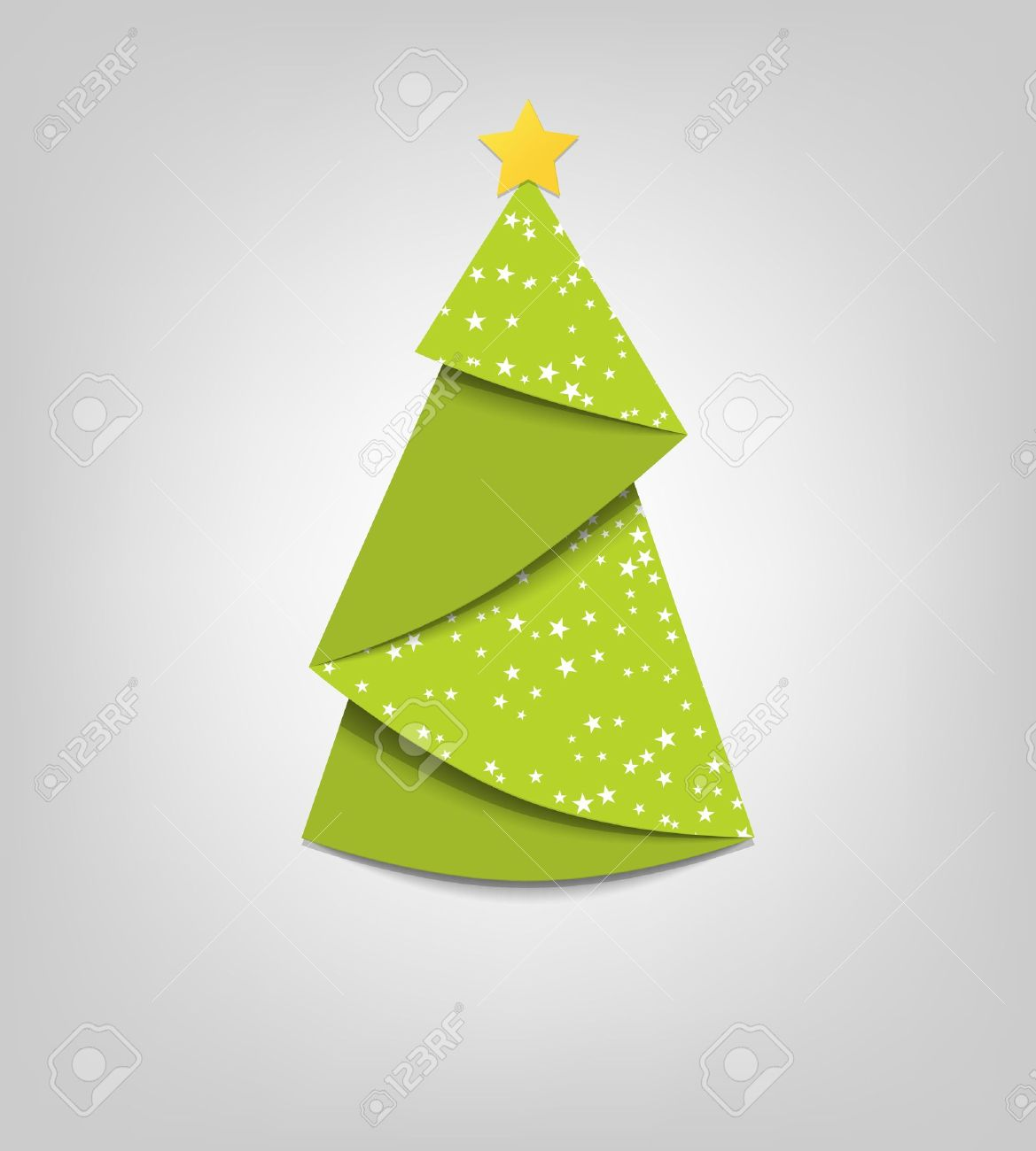 Creative Christmas tree card  origami Stock Vector - 15144385