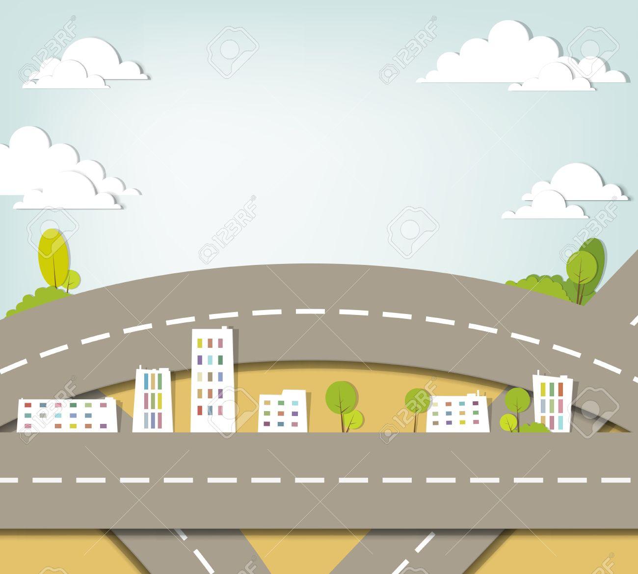 creative urban landscape applique - 15144379