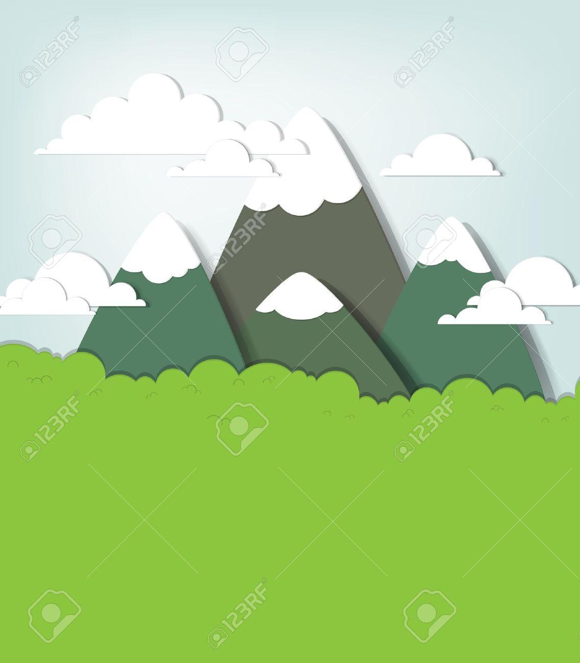 Mountain landscape creative vector applique - 15402361