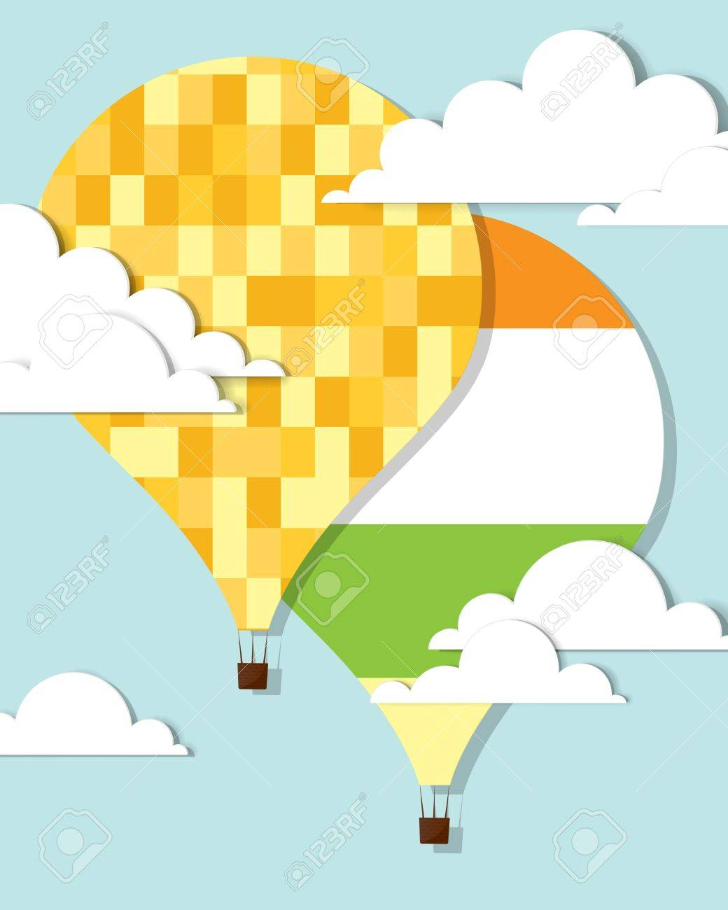 colorful hot air balloons in the sky Stock Vector - 16057341