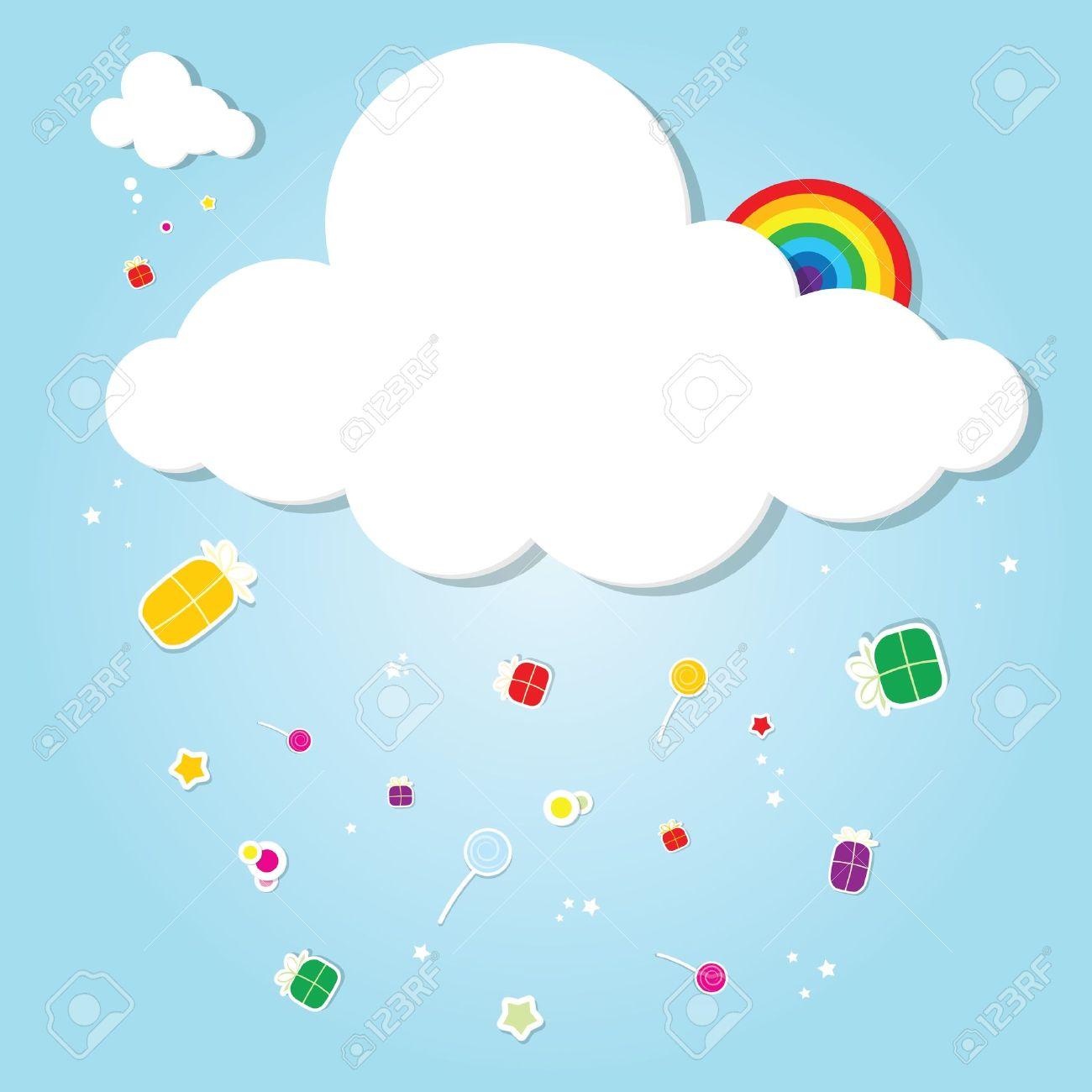 funny cloud. rain of gifts - 17843258