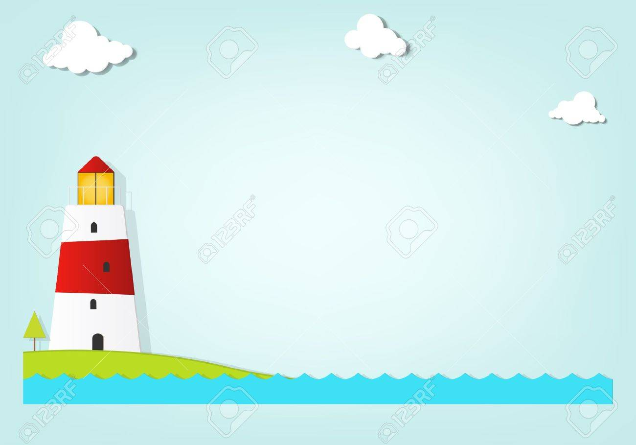 lighthouse by the sea - 17843263