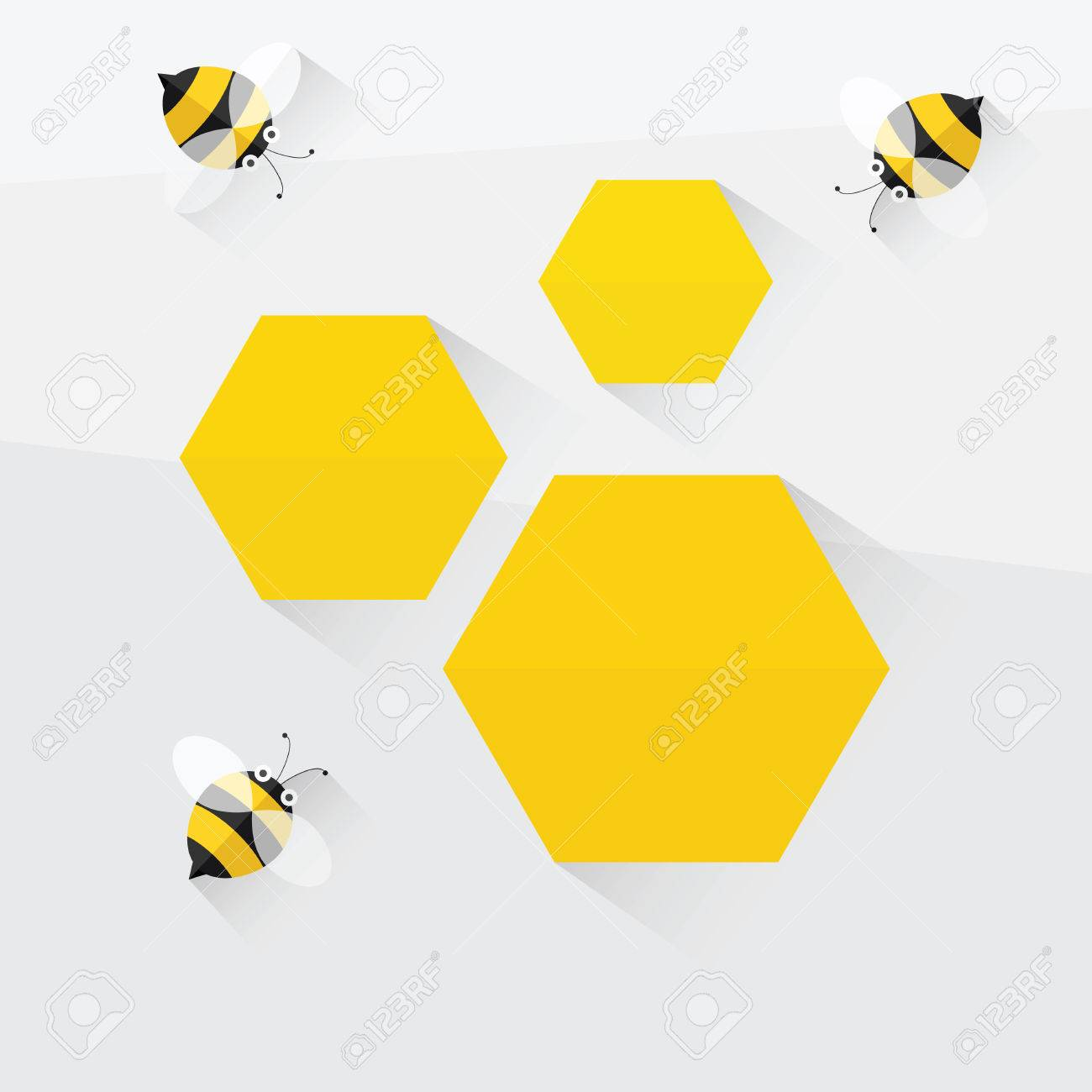 bees and honeycomb. flat design - 60181743