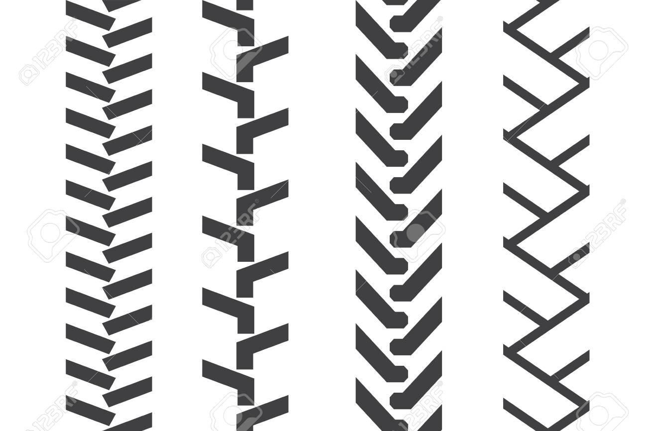 Tractor Tread Set Vector Seamless Pattern Royalty Free Cliparts Vectors And Stock Illustration Image 82195588