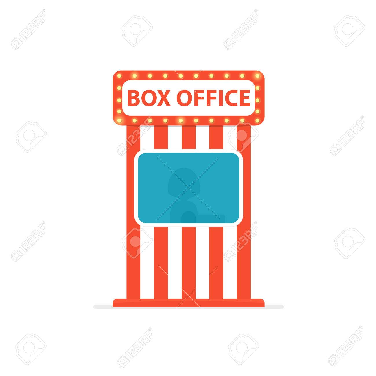 Ticket box office. Vector illustration isolated on white background - 82196731