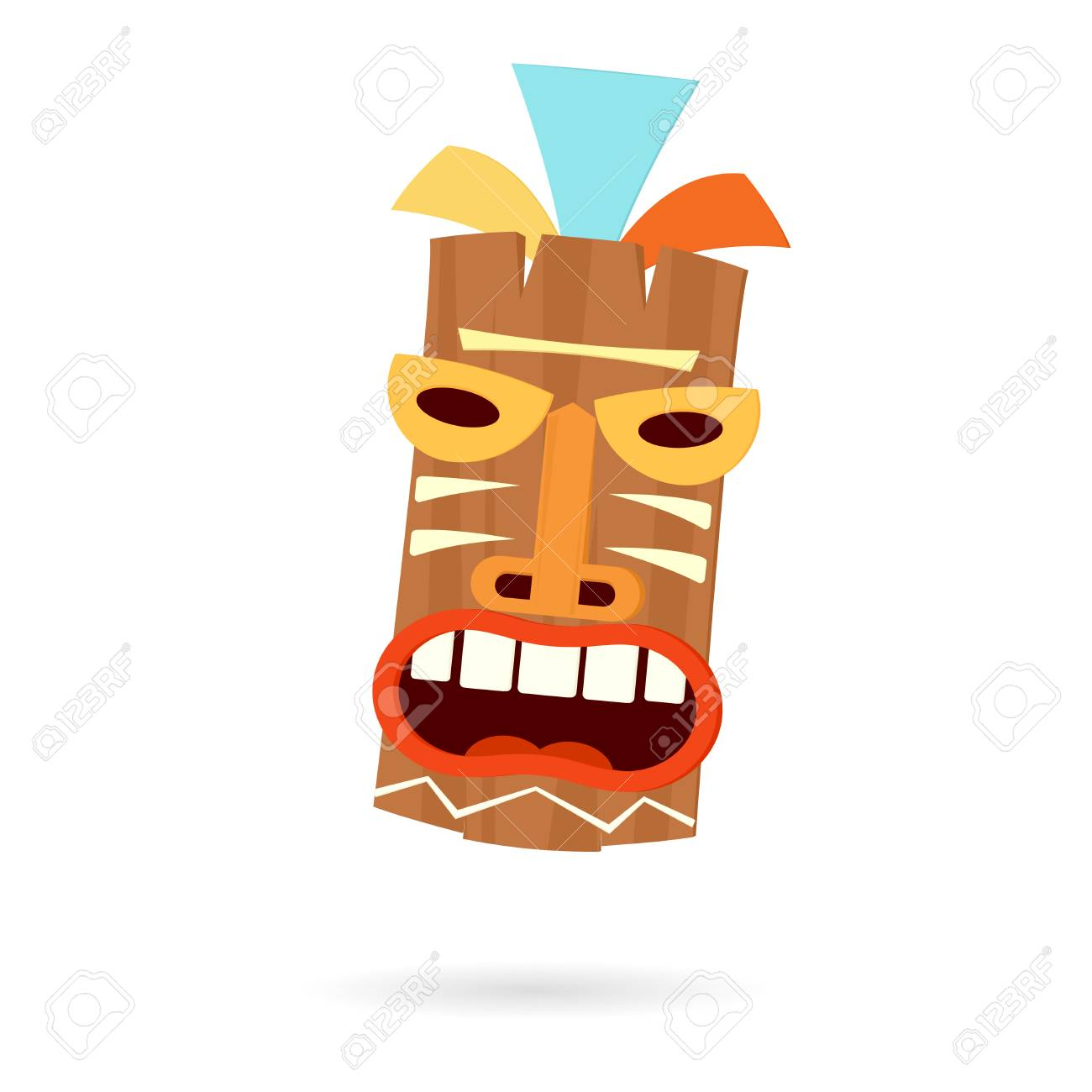 Tiki Mask Head Clip-art Design Illustration. Royalty Free Cliparts ...