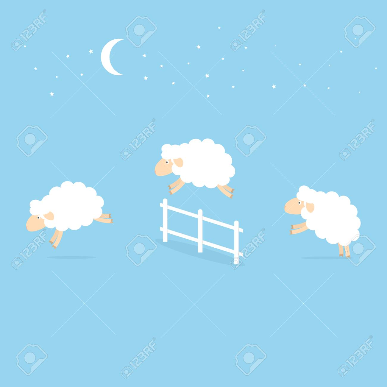 Sheep jumping over the fence. - 91450258