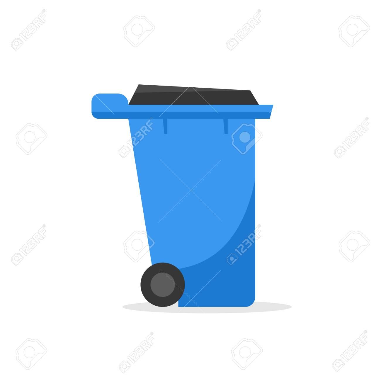 Plastic wheelie refuse waste bin isolated on a white background - 104890268