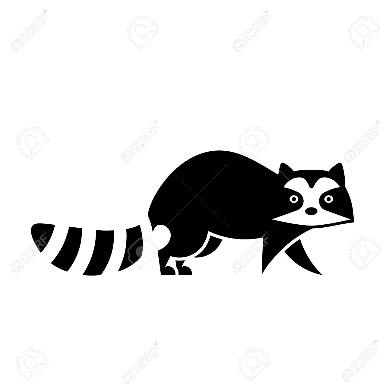 Wild Raccoon Icon Animal Control Clipart Isolated On White Background Stock Vector 112216903 Newcanaanitecom Raccoon Icon Animal Control Clipart Isolated On White Background