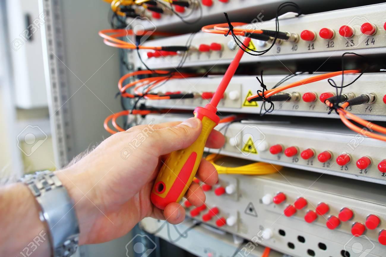 Repair of industrial optical commutator  Optical fibre information