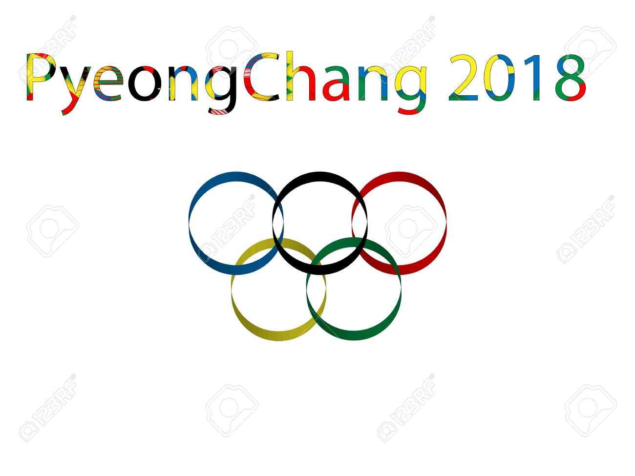 Symbol of winter olympic games pyeongchang 2018 vector text on symbol of winter olympic games pyeongchang 2018 vector text on white background pyeong chang biocorpaavc Images