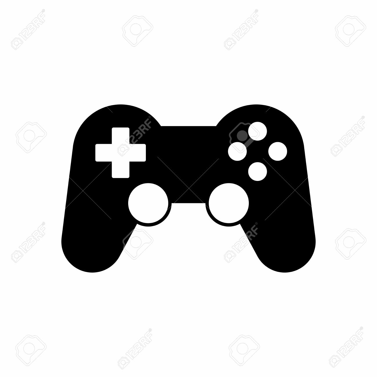 gamepad or game controller icon vector design isolated on white rh 123rf com game controller icon vector game controller vector free