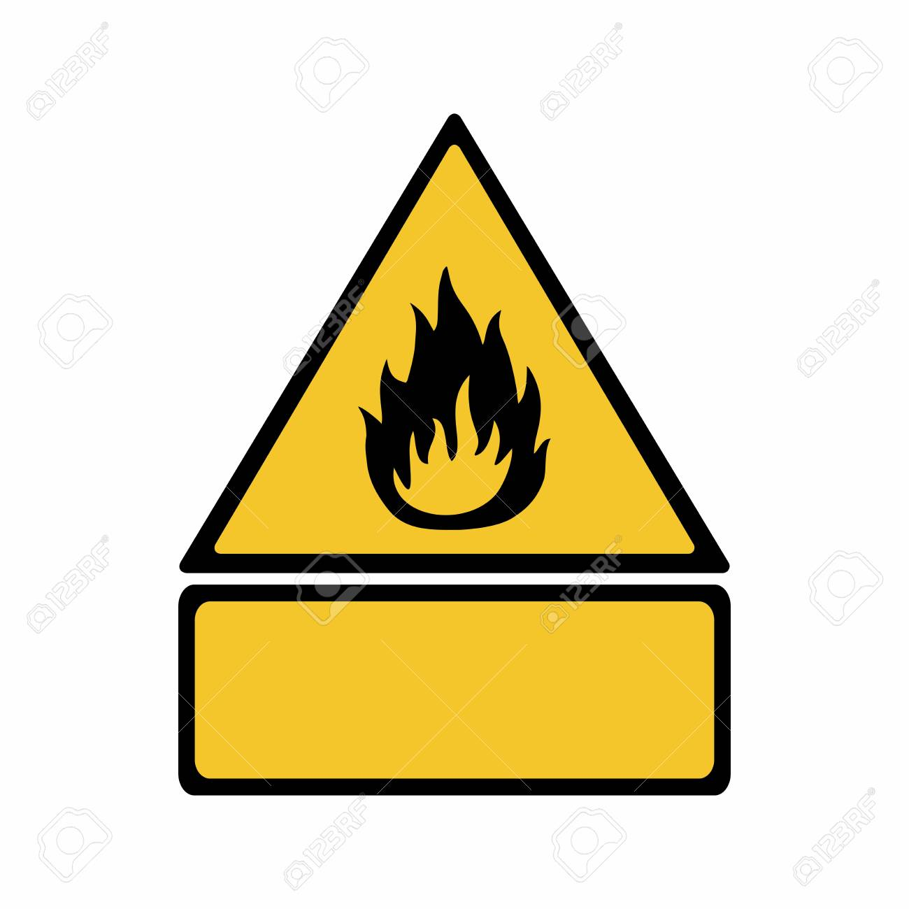 Flammable Material Sign Vector Design Iso 7010 W021 Warning
