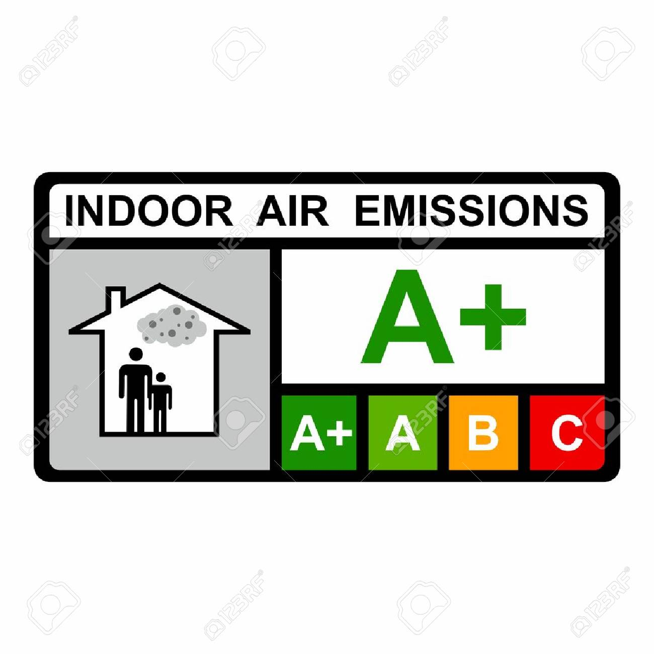 Indoor Air Emissions Vector Design Isolated On White Background Royalty  Free Cliparts, Vectors, And Stock Illustration. Image 76608811.