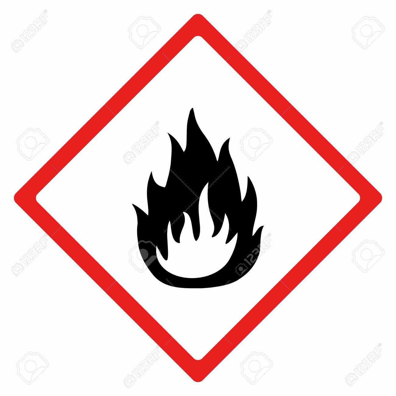 Flammable Material Sign Vector Design Iso 7010 Warning Symbol