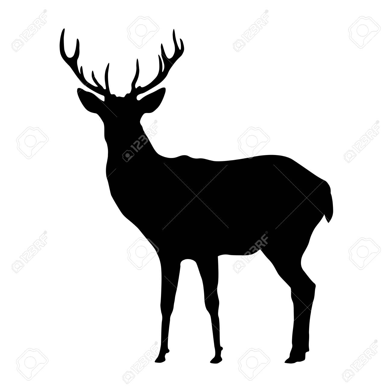 Deer shape, vector design isolated on white background. - 147441810