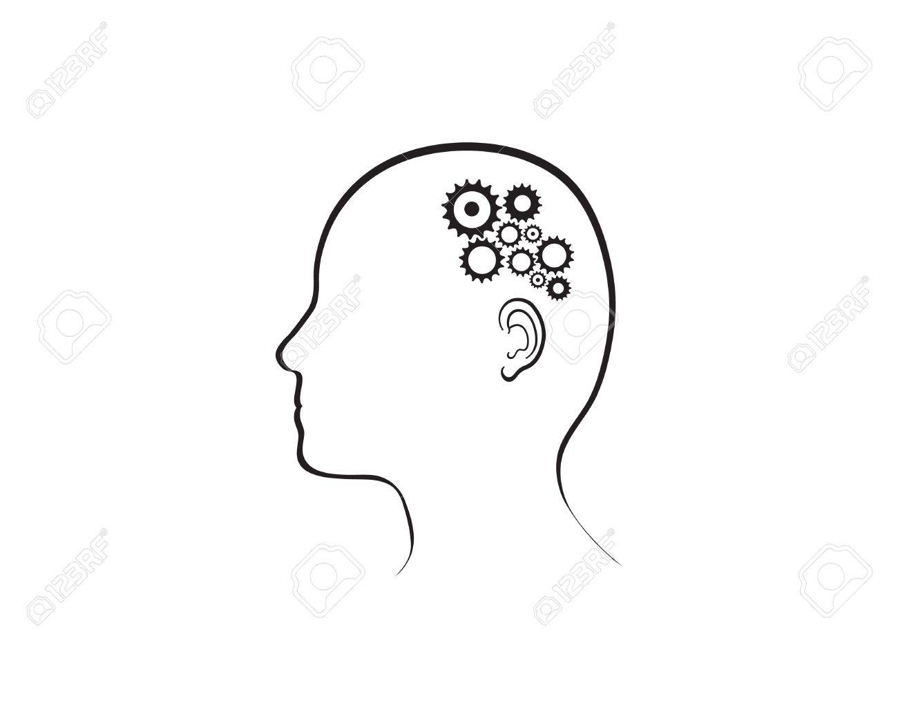 illustration depicting cogs working in the brain. Stock Vector - 11649911
