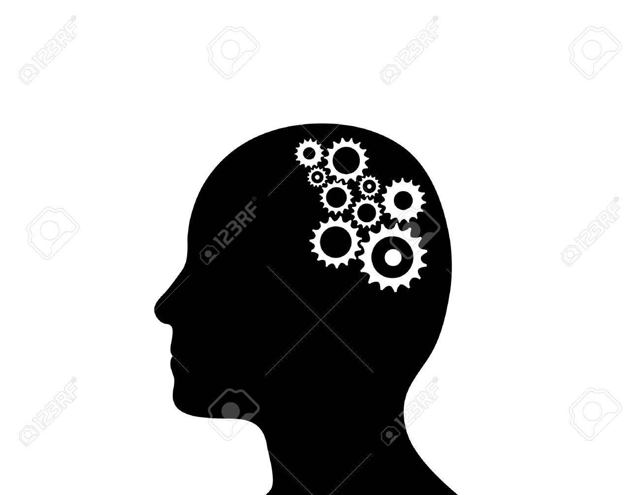 Cogs working in the brain Stock Vector - 11649980