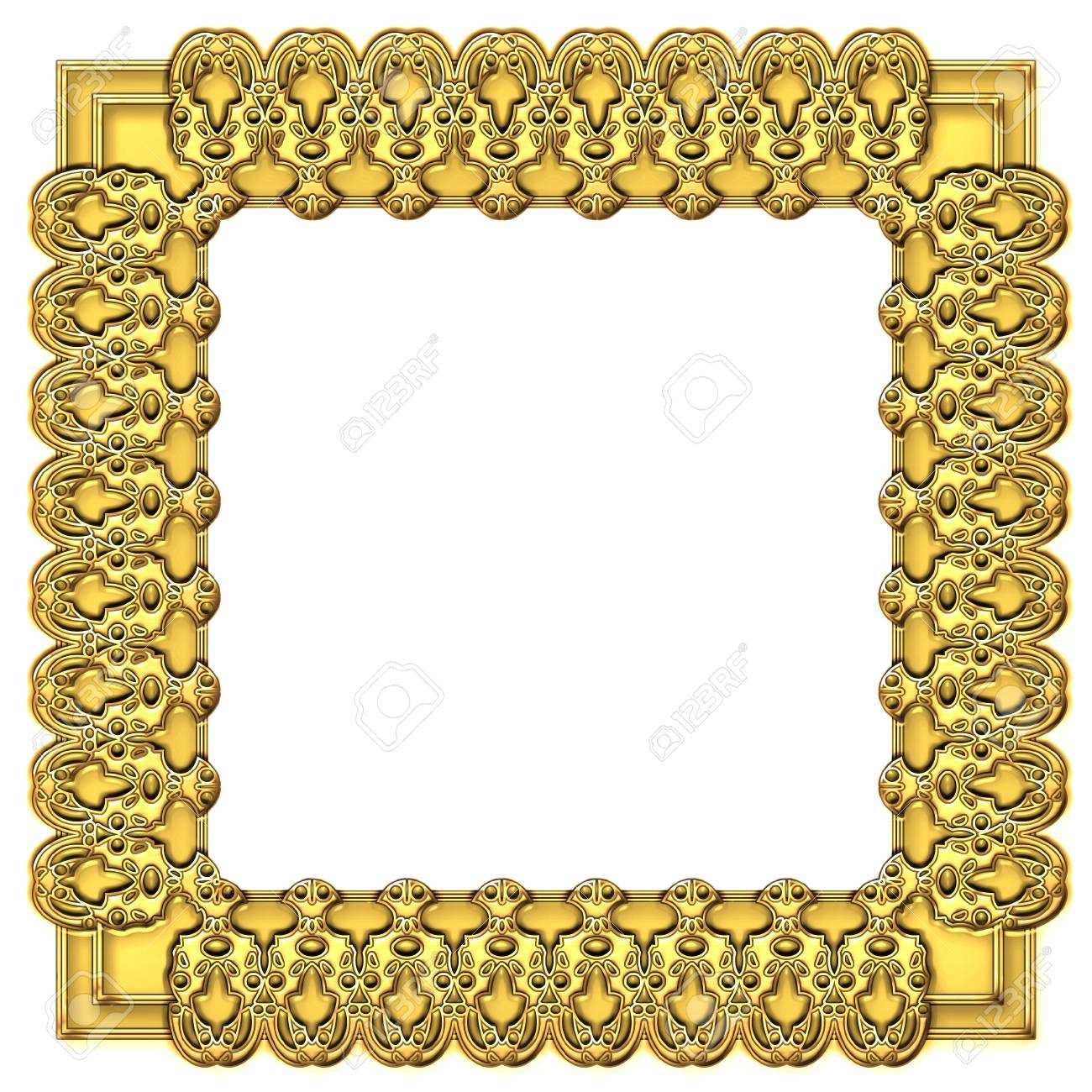 Square Gold Frame Stock Photo, Picture And Royalty Free Image. Image ...