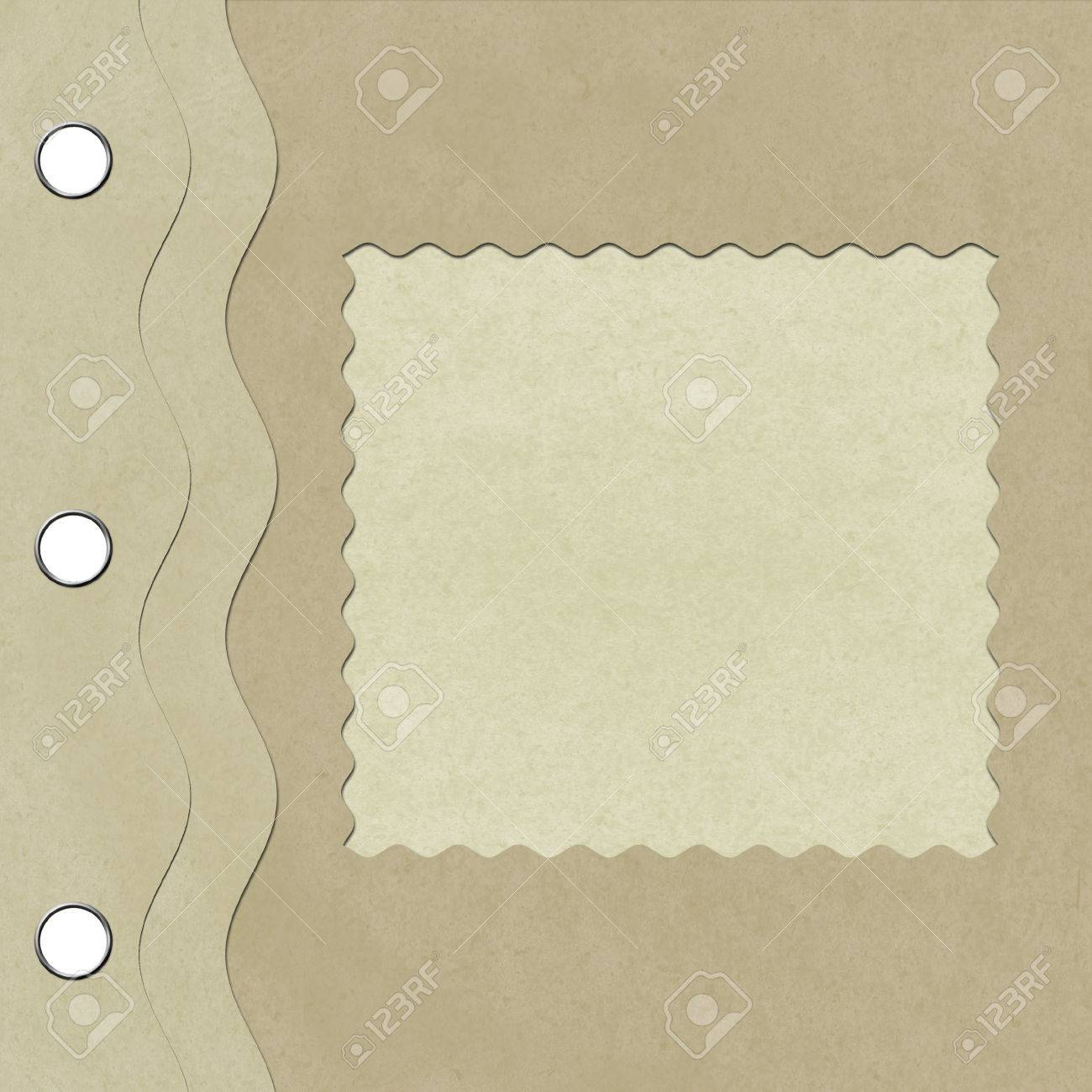 Square Cardboard Frame With Wavy Cutouts For Scrapbooking Stock ...
