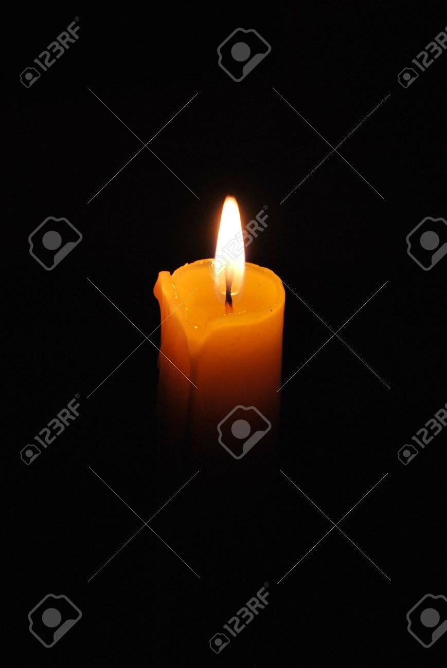 A dark night and a candle Stock Photo - 8126037
