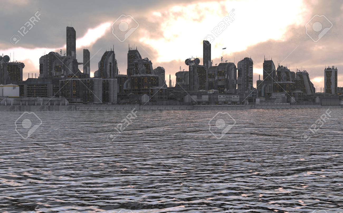 3d Illustration Future City For Futuristic Or Fantasy Backgrounds Stock Photo Picture And Royalty Free Image Image 78200416
