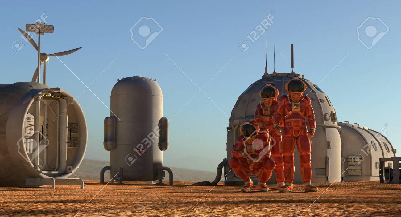 火星の植民地。エイリアンの惑星...