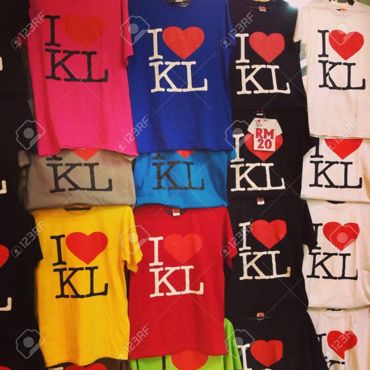 T shirt design kuala lumpur - Souvenirs T Shirts With Different Colours From Kuala Lumpur Malaysia Stock Photo 25214118