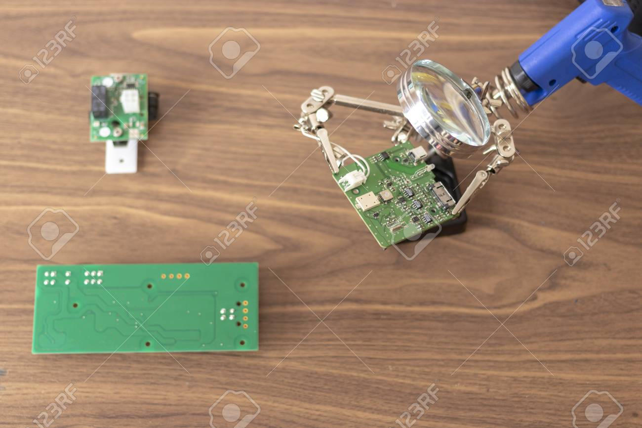 View Of The Repair An Electronic Circuit Stock Photo Picture And Games Circuits