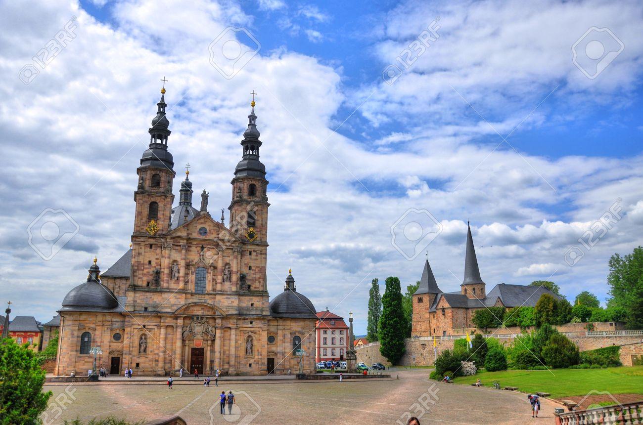 Fuldaer Dom Cathedral In Fulda Hessen Germany Stock Photo - Hessen germany