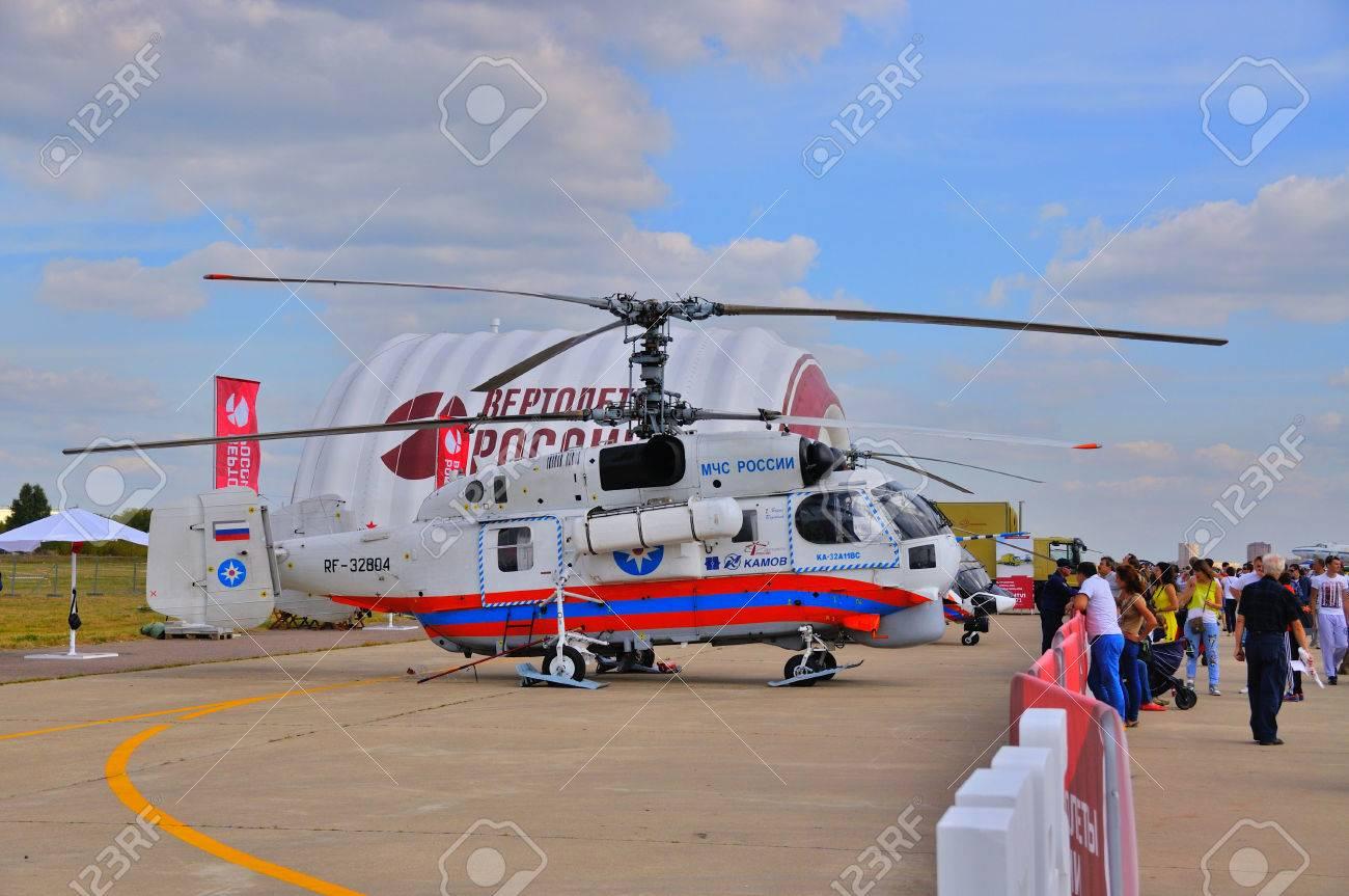 Elicottero 450 : Mosca russia agosto 2015: elicottero di emergenza ka 32 helix