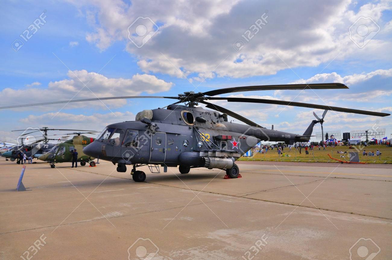 Elicottero 450 : Mosca russia agosto 2015: elicottero da trasporto mi 8 hip