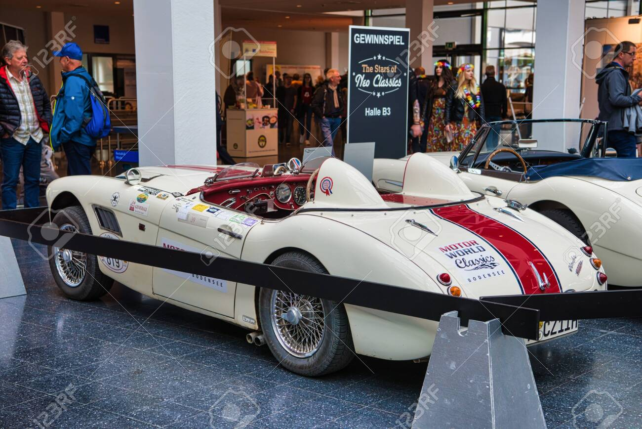Friedrichshafen May 2019 Beige Austin Healey 3000 1962 Racing