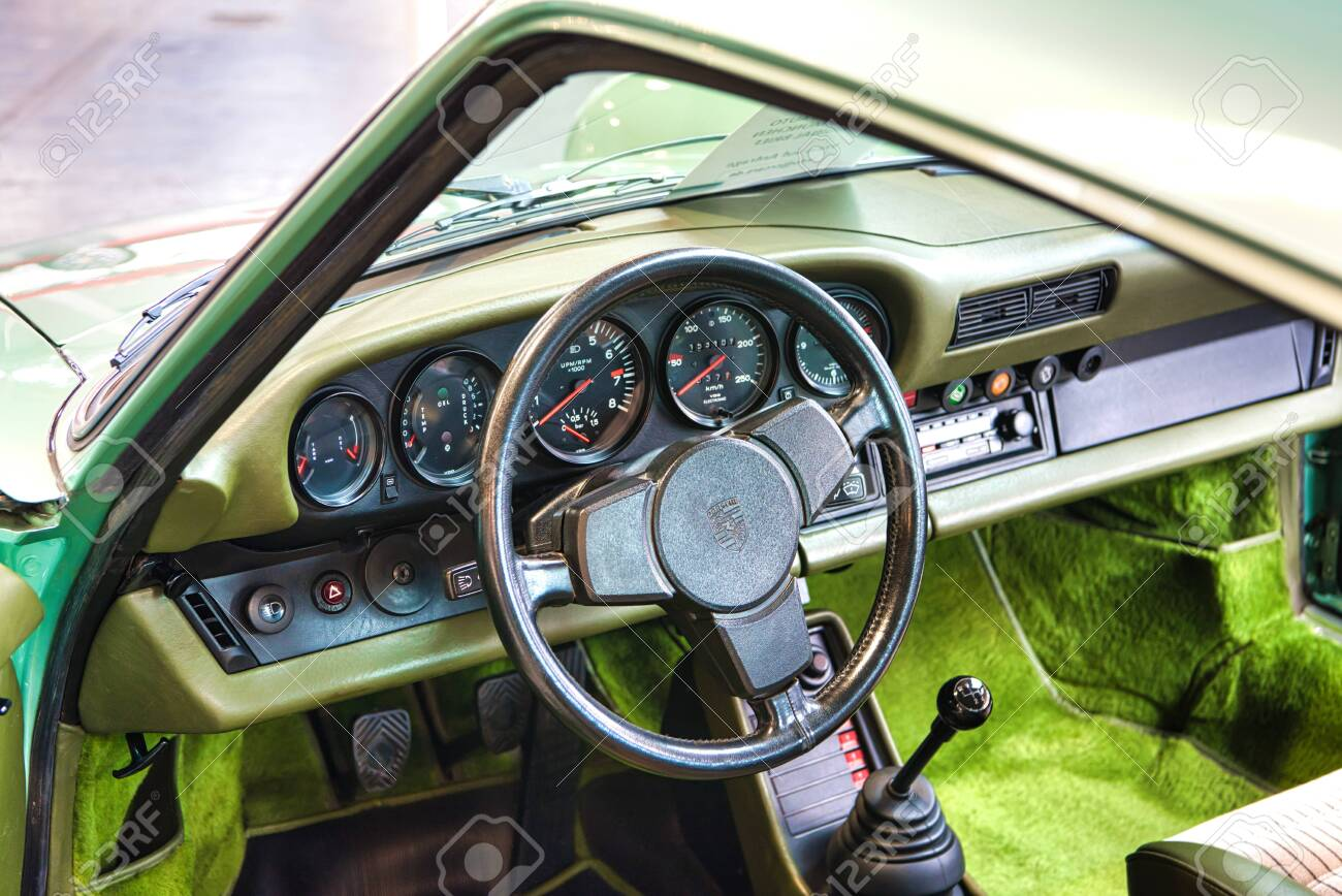 Friedrichshafen May 2019 Green Interior Of Porsche 911 930 Stock Photo Picture And Royalty Free Image Image 128621101