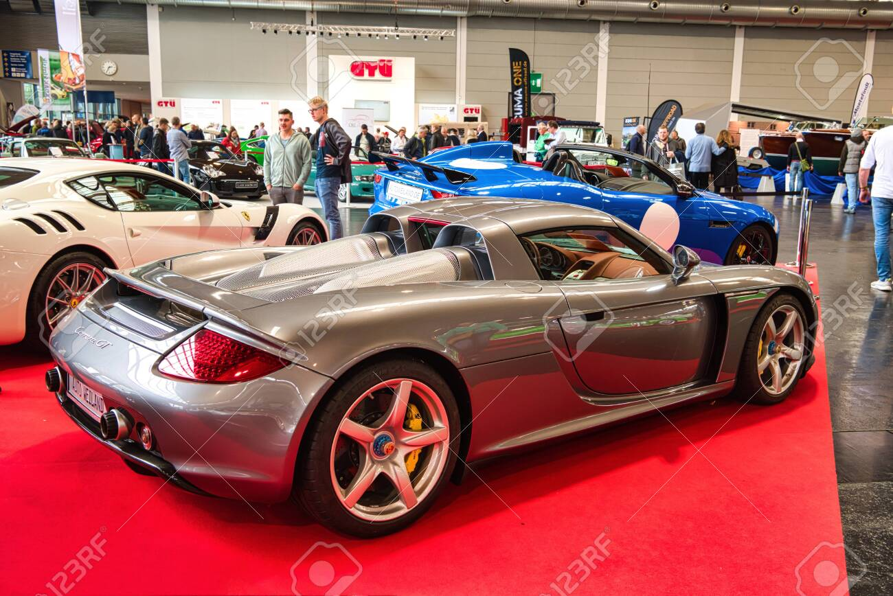 Friedrichshafen May 2019 Silver Porsche Carrera Gt 2002 At Stock Photo Picture And Royalty Free Image Image 128621121