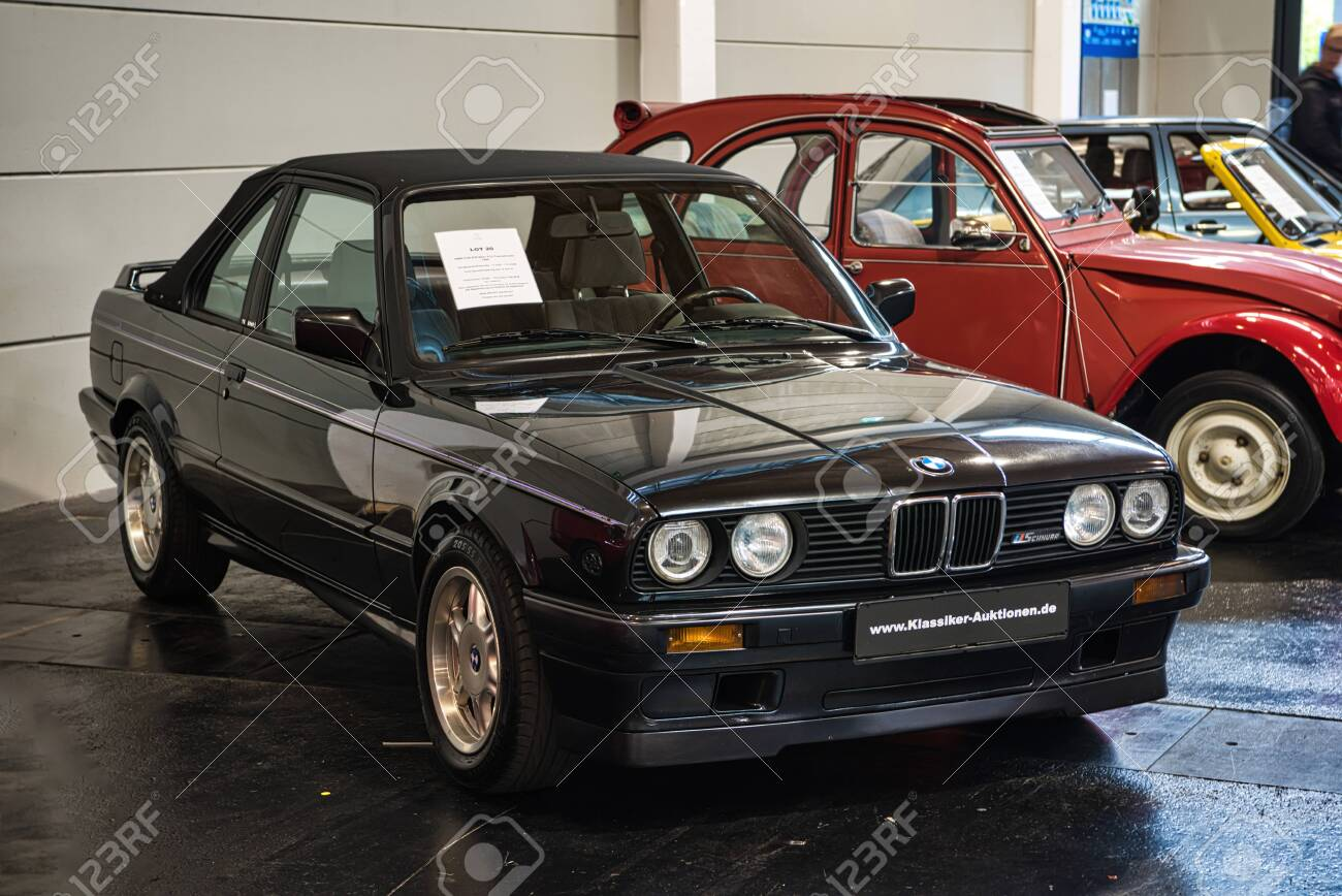 Friedrichshafen May 2019 Black Bmw 318i E30 Tc2 1990 Cabrio Stock Photo Picture And Royalty Free Image Image 128621139