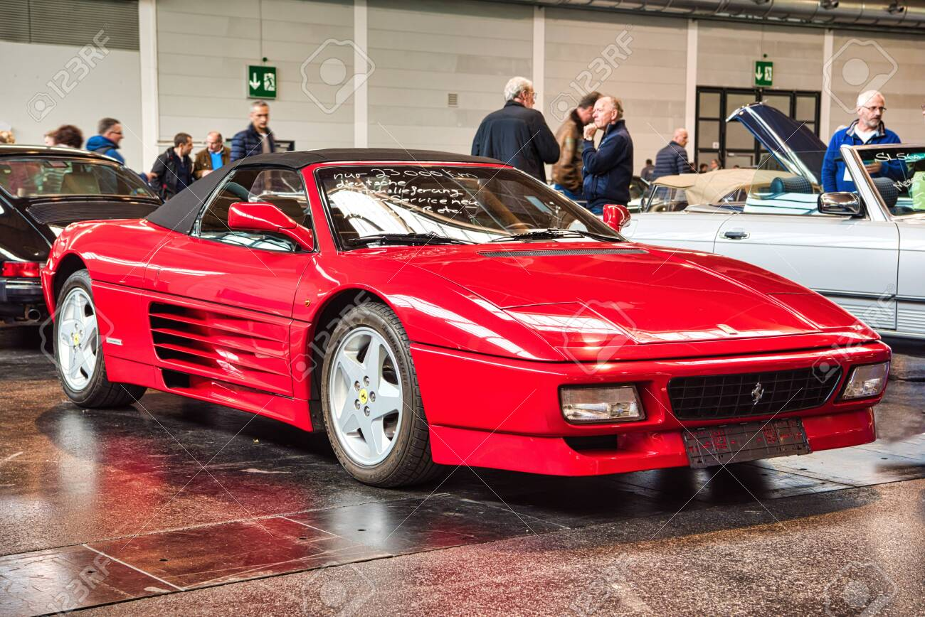 Friedrichshafen May 2019 Red Ferrari 348 Spider 1994 Cabrio Stock Photo Picture And Royalty Free Image Image 128621297