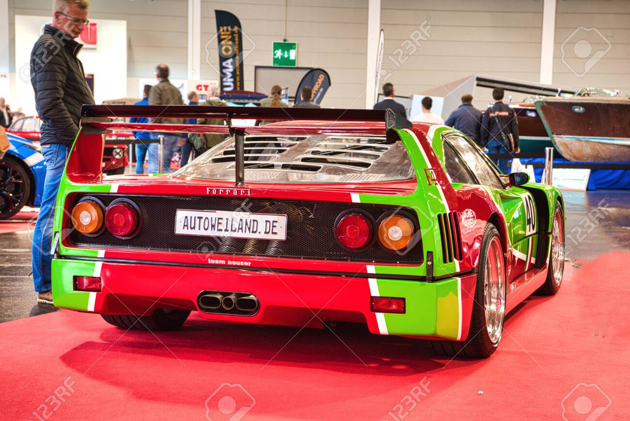 Friedrichshafen May 2019 Red Green Ferrari F40 1989 At Motorworld Stock Photo Picture And Royalty Free Image Image 142491196