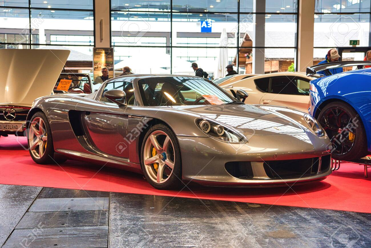 Friedrichshafen May 2019 Silver Porsche Carrera Gt 2002 At Stock Photo Picture And Royalty Free Image Image 142491197