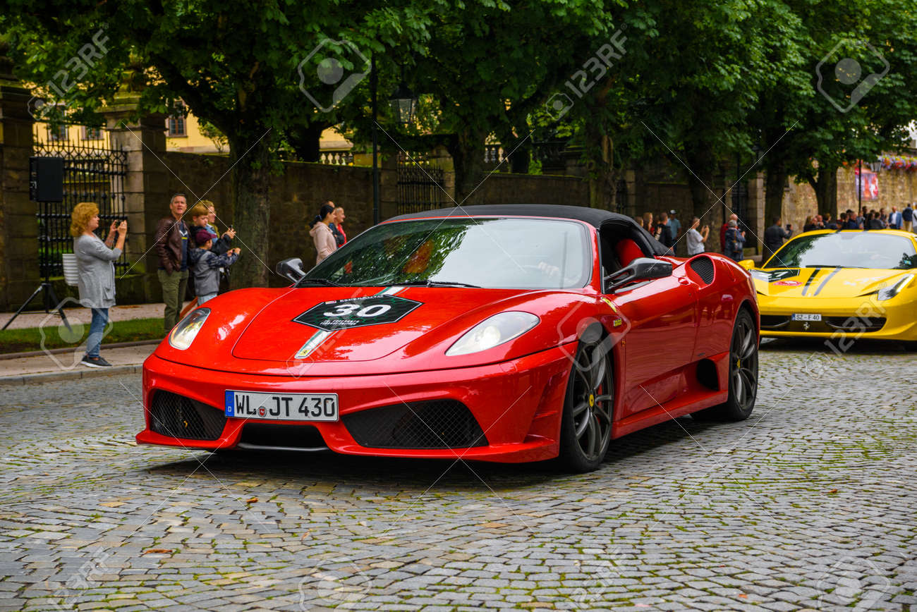 Germany Fulda Jul 2019 Red Ferrari F430 Type F131 Cabrio Stock Photo Picture And Royalty Free Image Image 142491439