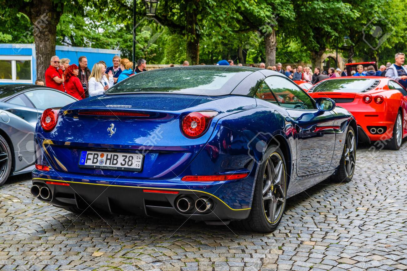 Germany Fulda Jul 2019 Dark Blue Ferrari California Type Stock Photo Picture And Royalty Free Image Image 142491506