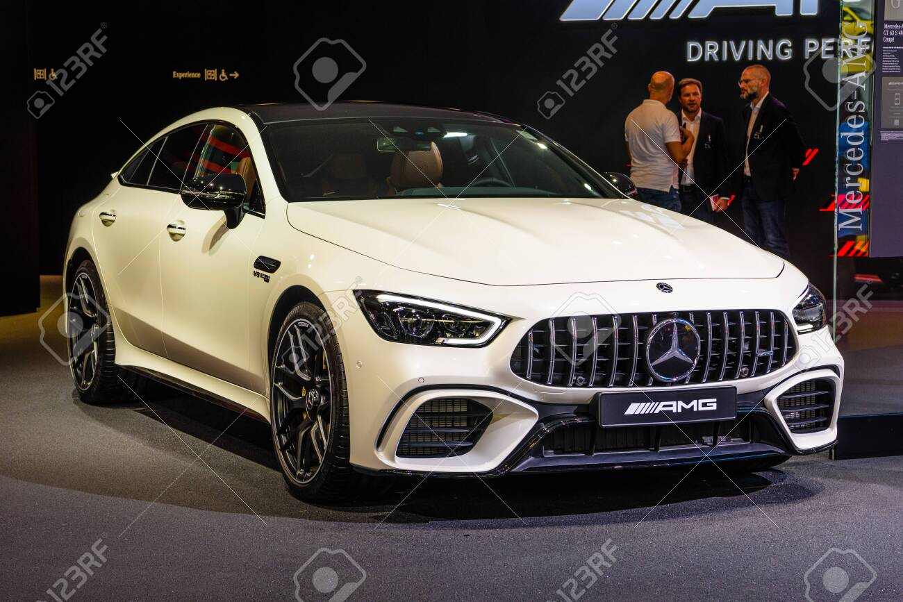 Frankfurt Germany Sept 2019 White Mercedes Benz Amg Gt 63 Stock Photo Picture And Royalty Free Image Image 142492652